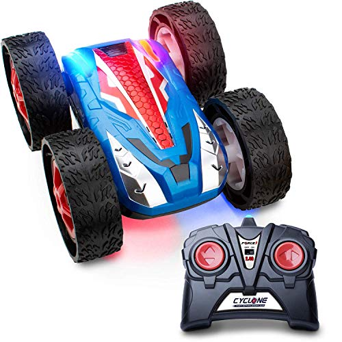 Force1 Cyclone Remote Control Car for Kids - Fast Off Road Stunt Car for Car Racing, RC Cars for Boys and Girls w/ 2 Rechargeable Toy Car Batteries