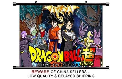 Amazoncom Dragon Ball Super Anime Fabric Wall Scroll Poster 32 X