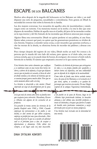 Escape de los Balcanes: La Valiente Saga de los Konforti durante el Holocausto (Spanish Edition): Mrs. Dinah Spitalnik Konforti: 9781537062075: Amazon.com: ...