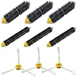 SHP-ZONE Brush Kit for iRobot Roomba 600 and 700 Series Roomba 620 630 650 660 680 760 770 780 3-Armed Side Brushes, Flexible Beater Brush, Bristle Brush
