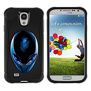 CAZZ Rugged Armor Slim Protection Case Cover Shell // Blue Alien // Samsung Galaxy S4