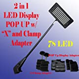 DSM 2 in 1 LED (78 Led) Diplsay Light White(6000k) for Trade Show Pop up Tension Booth Podium and Display Panel w/ C-type Adapter Super Bright Tension Las Vegas Approved, Ul Approved