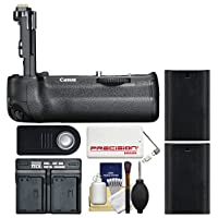 Canon BG-E21 Battery Grip for EOS 6D Mark II DSLR Camera with (2) LP-E6N Batteries + Dual Charger + Power Bank + Kit