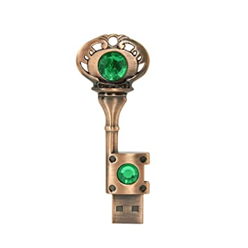 Amazon.com: Chuyi rojo diamante corazón de metal llave ...