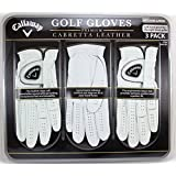 Callaway Premium Cabretta Leather Golf Gloves, Medium-Large, 3-Pack