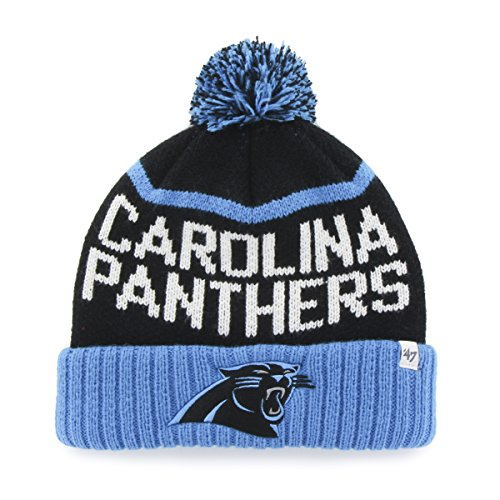 NFL Carolina Panthers '47 Linesman Cuff Knit Beanie with Pom, One Size, Black (Nfl Football Hats compare prices)