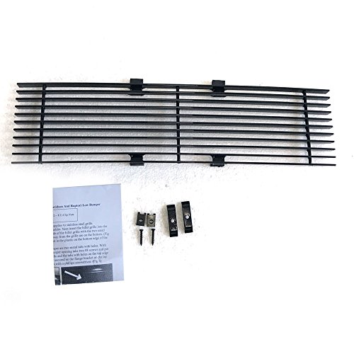 Autoforever for 09-14 Ford F-150 Pikcup Black Powder Coated Horizontal Billet Grille Insert Lower Bumper,Front