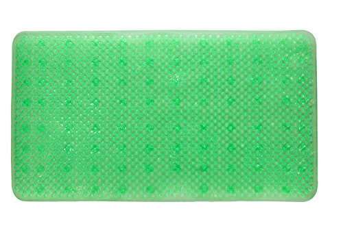 YHLCSQ Soft As Grass Bath Mats,Shower, and Tub Mat, Antibacterial,Non Slip,25×14 inch (Green)