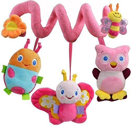 Baby Bed Around/baby stroller Hanging Bell/ Rattle Mobile Musical Plush Toy Gift