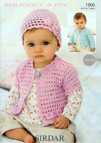 Sirdar Snuggly 4PLY Baby Crochet Pattern 1900