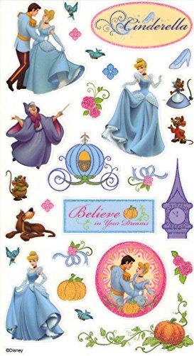 Disney Cinderella Glitter Stickers ~ Believe in Your Dreams (27 Stickers, 1 (Cinderella Stickers)