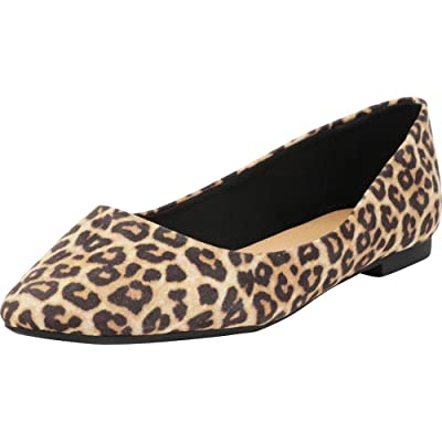 Cambridge Select Women's Classic Slip-On Pointed Toe Ballet Flat (Wide Fit) | Shoes