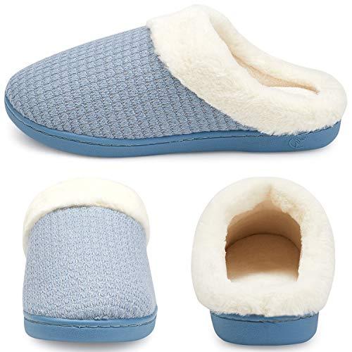 like Anti Memoria Da Winter Plush Pantalone Lana Indoor Morbida In Pantofole Maglia Blu Welltree Cotone slip Calda Donna A nq7AZ11