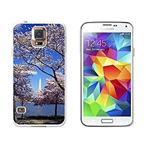 New Style Cherry Blossoms in Washingon DC - Snap On Hard Protective Case for Samsung Galaxy S5 - White