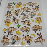 Jot Pop Up Stickers - Monkeys and Bananas - 30 pieces