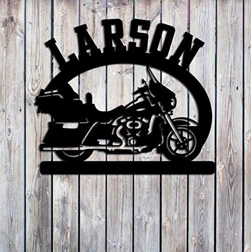 Motorcycle - Road Bike - Custom Metal Sign - Personalized - Outdoor Metal Art - Handmade USA Handmade USA Gift
