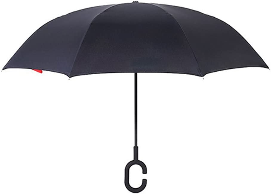 Color : Black AIYAMAYA Reverse Umbrella Free of Car Umbrella Wind and Rain