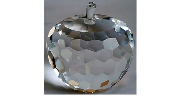 522cb52b39e30 Amazon.com: Simon Designs SD220351 Crystal Apple Paperweight 3 by ...