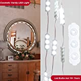 LED Vanity Lights Kit for Makeup Mirror,10.8 FT 60 LEDs Makeup Mirror Light Kit with Dimmer and Power Adaptor- IP67, Natural White