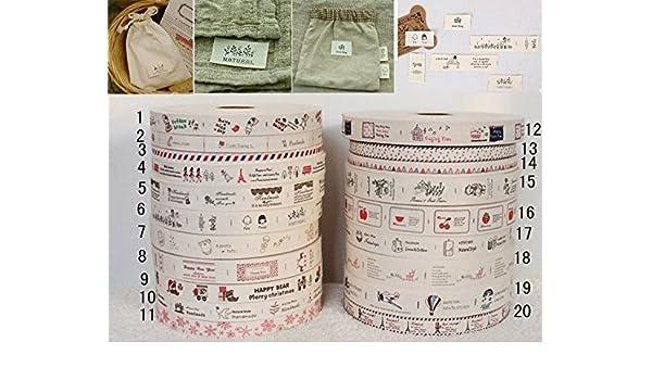 20 cintas algodon modelos y diseños disntintos para vestidos, costura, scrapbooking, toallas, decoracion, canastillas, decoracion, regalos 1m de OPEN BUY: ...