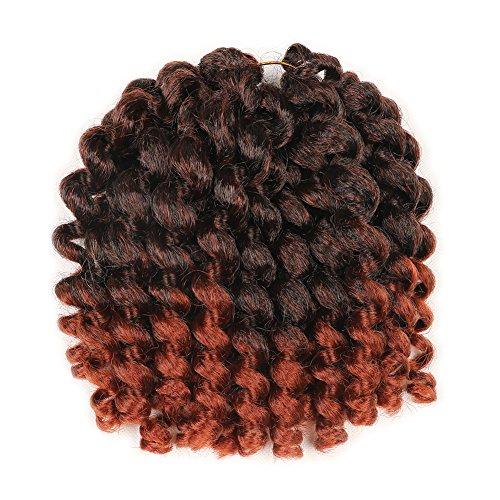 5 Packs Wand Curl Hair 8inch Jamaican Bounce Synthetic Crochet Twist Braids Hair Extension 20strands/pack Xtrend Hair (1B/350#, 5packs/Lot) (Best Braid Pattern For Crochet Braids)