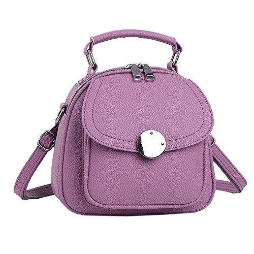 BAILIANG Bolso De Cuero Del Bolso De Crossbody De La Manera De La Señora Mini Bolso De La Mochila Del Bolso De Hombro Para Las Mujeres Multicolor Purple