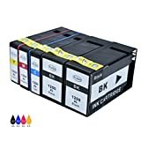JUSTCOLOR 5 Pack Compatible Ink Cartridge Canon PGI-1200XL PGI-1200 XL Replacement for Canon MAXIFY MB2720 MB2320 MB2020 MB2050 MB2350 Printer (2 Black, 1 Cyan, 1 Magenta, 1 Yellow)