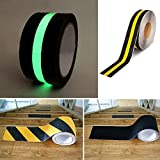 Non Skid Safety Tape - GREEN FLUORESCENT - Anti Slip Safety Tape, 2 inches by 17ft, Indoor or Outdoor Applicable