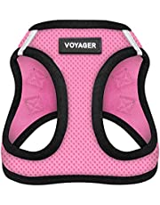 Voyager All Weather No Pull Step-in Mesh Dog Harness with Padded Vest, Best Pet Supplies, Extra Small, Pink Base
