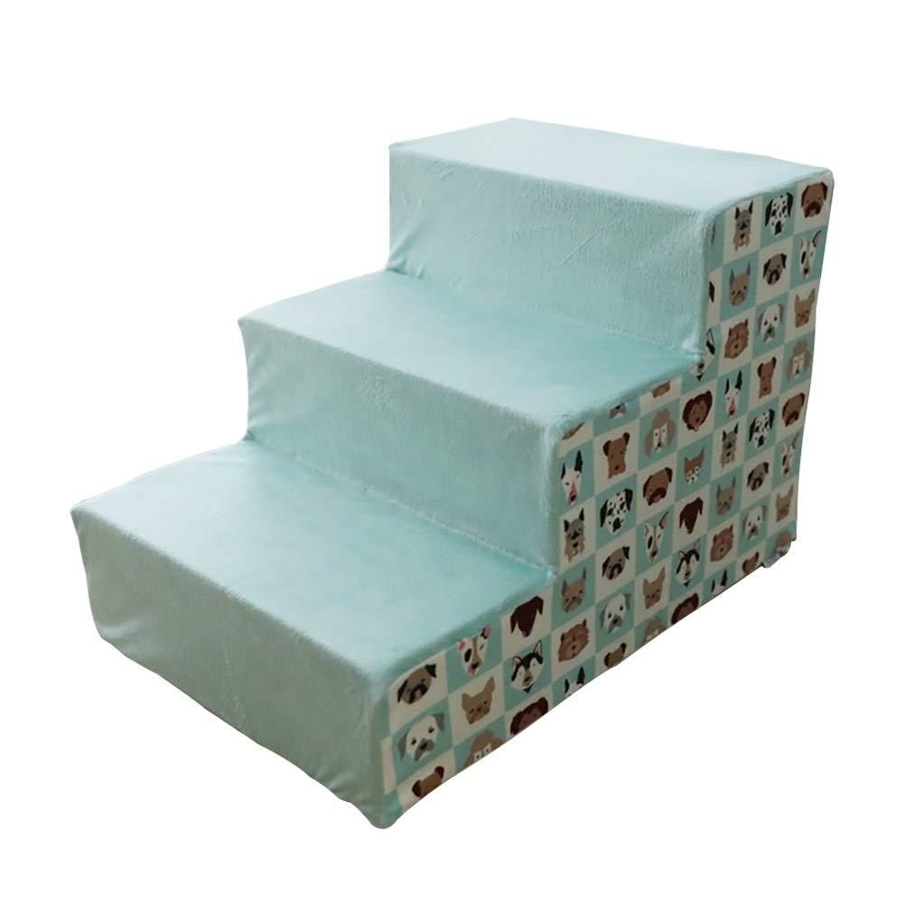 Pet stairs Dog Steps 3 Steps Cat Easy Climb Stairs, Removable cover, Older Animal Easy Climb Stairs Assistance