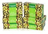 Kiwi Bar Soap with Green Apple Extract - Handmade Herbal Soap (Aromatherapy) with 100% Pure Essential Oils - ALL Natural - Extra Gentle Cleansing - Each 2.65 Ounces - Pack of 6 (16 Ounces) - Vaadi Herbals