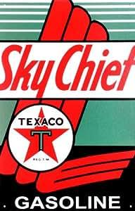 Cartel de chapa 'Texaco: jefe de aire', Tamaño: 41 x 26 cm