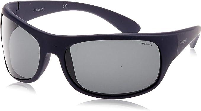 Polaroid 7886 - Gafas de sol rectangulares unisex, color azul (blu ...