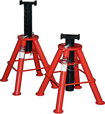 Norco Professional Lifting Equipment 81210i High Profile 10 Ton Capacity Jack Stands - Pin Type (Imported) (Set of 2)