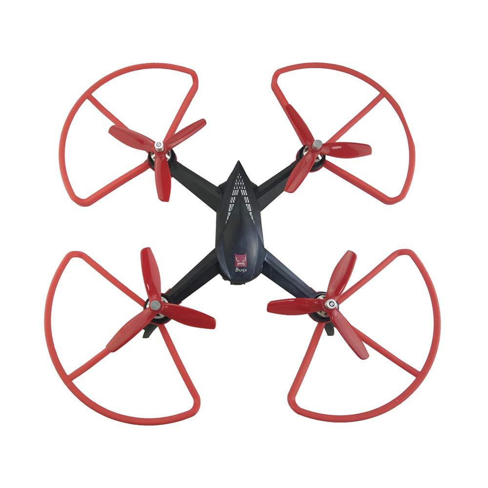 LaDicha 4Pcs Hélices Protección De La Hélice Conjuntos para Mjx B5W F20 Bugs 5W RC Drone Quadcopter Piezas De Repuesto - Rojo