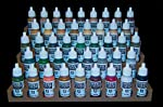GameCraft Miniatures Paint Rack - 26mm, for Vallejo and Army Painter Style Dropper Bottles from GameCraft Miniatures