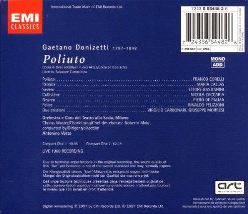 Donizetti: Poliuto (complete opera live 1960) with Maria Callas, Franco Corelli, Antonino Votto, Orchestra & Chorus of La Scala, Milan by EMI Classics