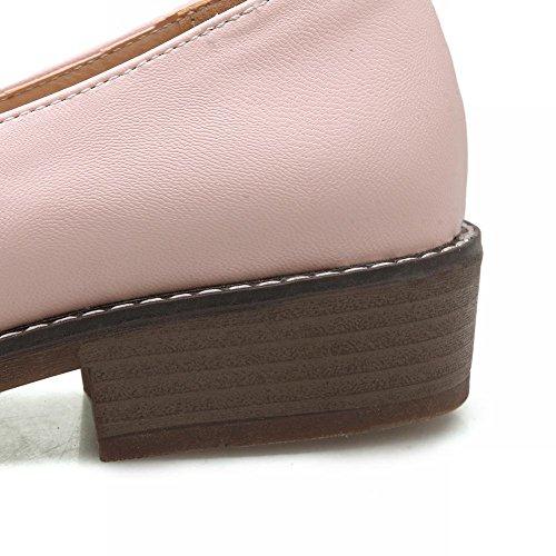Mee Shoes Damen bequem Geschlossen Schleife Pumps Pink