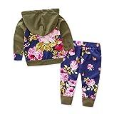 Baby Girls Floral Hoodie+ Floral Pant Set Leggings