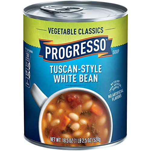 Progresso Vegetable Classics Tuscan-Style White Bean Soup, 18.5 Ounce Canned White Bean Soup