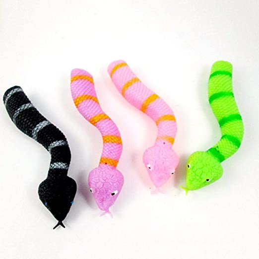 Dontdo Bendable Forked Tongue Snake Hand Finger Puppet Halloween Props Toys Kids Adults Random Color