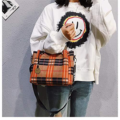 Koreaanse Vaporizer versie Red Herfst en Wide Messenger Saoga Marea Wild de van Khaki winterband tas geruite Shoulder Kleur ZE5pqw5
