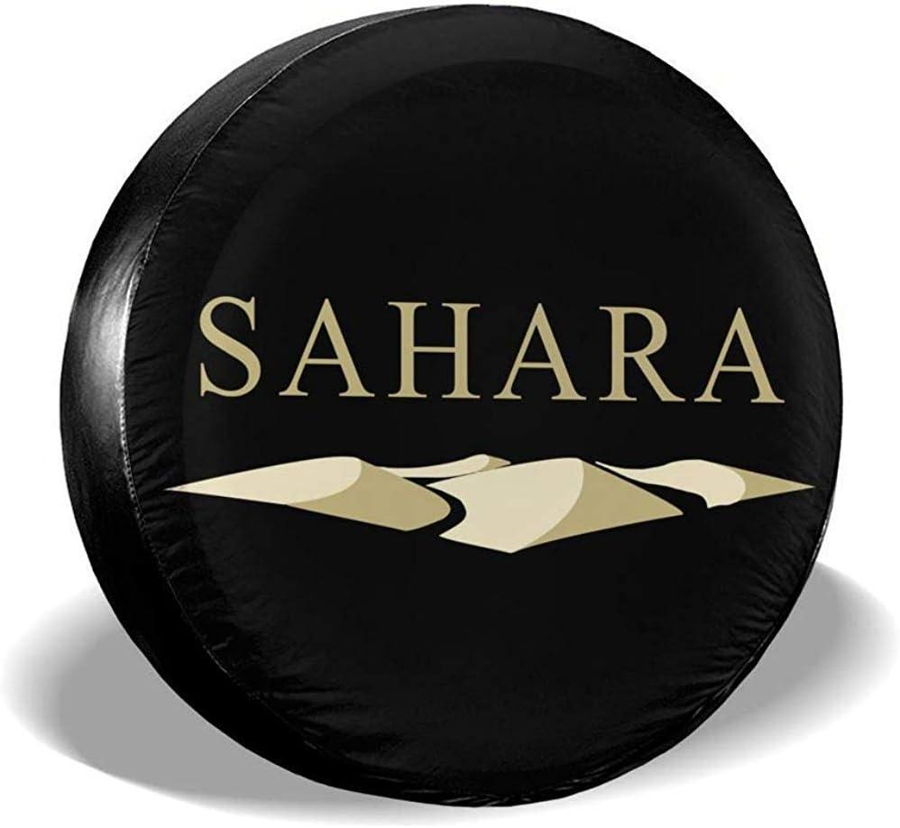 ETGeed Copertura per Ruota di scorta Jaep Wrangler Sahara Badge Protezione Antipolvere Universale Adattabile per Ruote