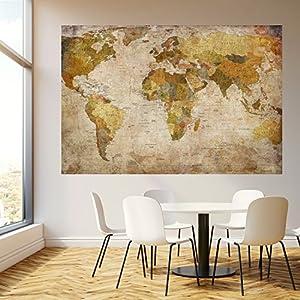 murimage Papel Pintado Mapa Mundi 183×127 cm Incluyendo Pegamento Sala de Estar histórico Viejo países worldmap Vintage Fotomurales