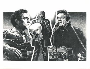Johnny Cash Original Sketch Prints