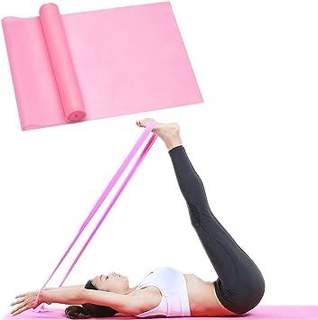 LITOON Exercise Band Resistance Bands Stretch Bands Yoga Fitness Tension Belt Workout Bands for Resistance Training Women Men 1.5M