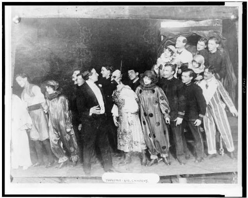 Group Costumes For 8 People (early 1900s photo Thurston and Company - group of people in costumes on stage d3)