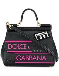 Women's BB6002AS53780999 Black Leather Handbag