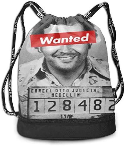 MELODYEE Pablo Escobar Drug Lord, Drawstring Bag Saca La ...