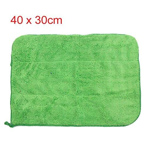 Amazon.com: eDealMax 2pcs Azul Verde Mircrofiber de coches Pulido de limpieza de Lavado de toallas 40cm x 30m: Automotive